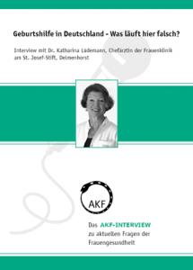 AKF-Interview zur Geburtshilfe mit Katharina Lüdemann