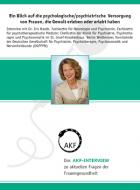 Das AKF-Interview (Nr. 2): Ein Blick auf die psychologische/psychiatrische  Versorgung von Frauen, die Gewalt erleben oder erlebt haben