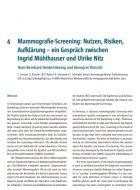 Diskussionen zum Mammografie-Screening: Frauen können Entscheidungen selbst treffen