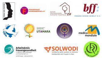 Logos der Erstunterzeichner des Offenen Briefes für Besma A.